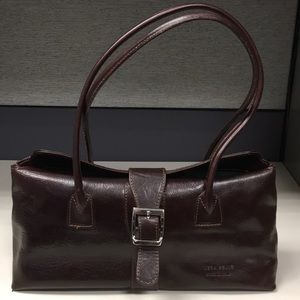 Leather burgundy VERA PELLE handbag